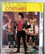 Retired McCalls 2664 Renaissance Medieval Costume PATTERN Mens 42 44 LARGE