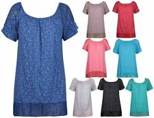 Paisley Machine Washable Casual Plus Size Tops for Women