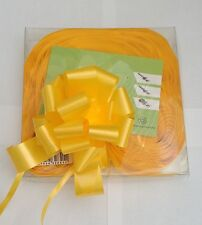 30 x 30mm Yellow Pull Bow Ribbon Ideal Wedding Gift Wrap Florist Hampers Baskets