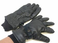 Military Issue Black Leather Intermediate Insulated Cold Weather Gloves MEDIUM