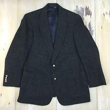 AUSTIN REED - Vtg Mens Gray Wool 2-Button Blazer British Riding Jacket, 44 Reg