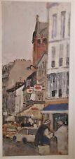 Wonderful Oil On Paper, Paris Street Scene Artist Signed Stupar, Marko Stupar