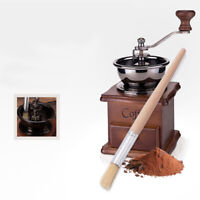 KE_ Coffee Grinder Cleaning Brush With Wood Handle Bristles Dusting Brushes To