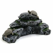 Resin Aquatic Turtles Climbing Rock Ramp Aquarium Fish Tank Landscape Decor