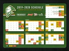 London Knights--2019-20 Magnet Schedule--Budweiser/Pete's Sports--OHL