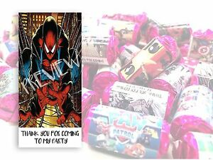 Spiderman Mini Love Hearts Sweets Party Bag Fillers Kids Childrens Thank you #4
