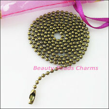 5Strands Ball Chain Necklace 1.5mm beads w/connector 80cm