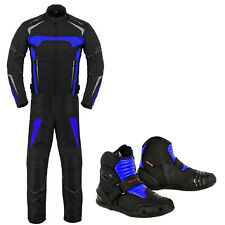 Motorbike Racing Suit Jacket Trouser Leather Boot Motorcycle Waterproof Clothing