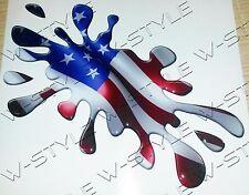 TUNING BANDIERA FLAG USA AMERICA STARS AND STRIPES 3D A MACCHIA  STICKER ADESIVO