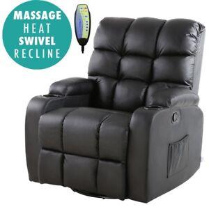 Modern Lazy Boy Health Recliner Massage Armchair Heat Treatment Real Bonded New