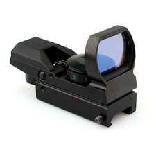 Red Dot Finder Finderscope Tactical Reflex Sight Scope 4Reticle w/ Mounting Base