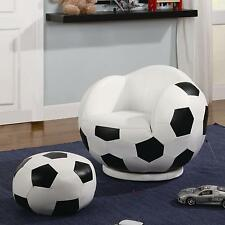 Coaster 460178 - Kids Sports Chairs Small Kids Soccer Ball Chair and Ottoman