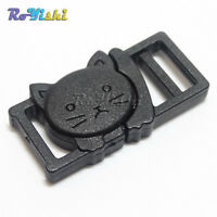 "3/8""(11mm) Cat-Head Plastic Safty Breakaway Buckles For Cat Collar /Paracord"