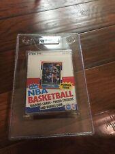 Empty Authentic 1986 Fleer Basketball Wax Pack Box GAI 9 Michael Jordan Rookie