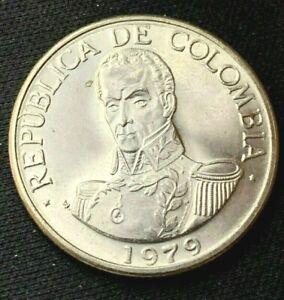 1979 Colombia Un 1 Peso Coin BU     World Coin   Copper nickel    #K1171