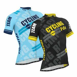 FDX Men Cycling Jersey Half Sleeve Top Cycle Racing Team Breathable Biking Shirt