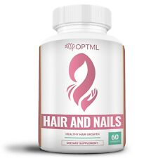 OPTML Hair Skin Nails Dietary Supplement Capsules Biotin Collagen Booster