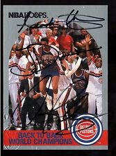 DENNIS RODMAN ISIAH THOMAS JOE DUMARS AUTO SKYBOX SCOREBOARD COA AUTHENTIC HOOPS