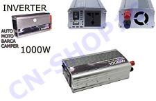 INVERTER 1000W WATT 12V 220V TRASFORMATORE AUTO BARCA CAMPEGGI CAMPER PRESA USB