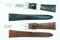 MORELLATO: Uhrenarmband 20mm Echtes Krokodilleder dünn Dunkelblau Braun UVP: 54€