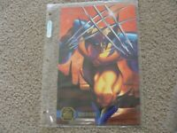 "1995 Marvel Flair Annual Wolverine 6 1/2 x 10"" Flair Prints Jumbo Card"