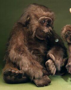 FÖRSTER Stofftier Kuscheltier Plüschtier Schmusetier Gorilla extra groß 80 cm