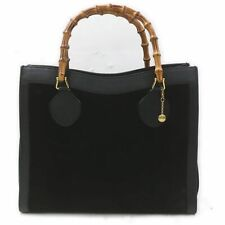 Gucci Hand Bag  Black Suede Leather 1405698