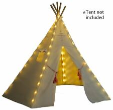 Indoor Outdoor Kids Tent Playhouse Teepee Lights LED Bulbs - Battery Operated