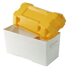 Large Leisure Battery Box 120Amp Complete With Fastening Strap, Buckle & Divider