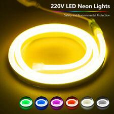 Flexible Neon LED Strip Fairy Lights Rope Lamp Tube IP65 Waterproof  12W/M 220V
