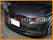 PII Style Carbon Fiber Front Bumper Flat Lip For BMW 2012+ 328i 335i w/ M-Sport
