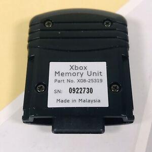 Original Xbox Microsoft Official Memory Unit Card Part no. 0922730