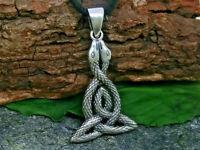 2 Schlangen 925 Sterling Silber Anhänger Kette Schlange keltischer Knoten