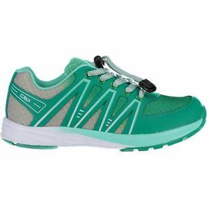 CMP Trainers Sport Shoes Kids Merak Fitness Shoe Green Plain Colour Mesh