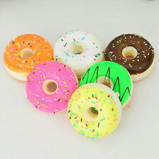 1PC Cute Soft Squishy Colorful Donuts Cell phone Charms Chain Cute Straps Gift