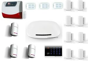 GSM Funk Alarmanlage G1 -Funk/Solar Sirene -Türcode- Per APP/SMS/TELEFON