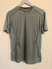Nike Pro Combat Mens Size Medium Gray Fitted Compression Athletic Shirt