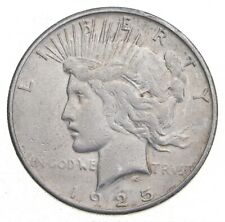 Early - 1925-S - Peace Silver Dollar - 90% US Coin *375