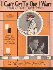 I CAN'T GET THE ONE I WANT jazz song PRETTY GIRL piano ukulele LOU HANDMAN 1924