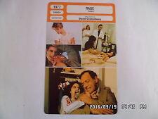 CARTE FICHE CINEMA 1977 RAGE Marilyn Chambers Frank Moore Joe Silver P.Gage