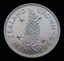 """1 Crown 1949"" New Zealand / Neuseeland - Silbermünze"