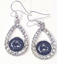 Penn State Nittany Lions College Earrings - Crystal Tear W/ Round Logo