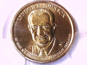 2015 D Lyndon B. Johnson Presidential Dollar PCGS MS 67 Position A 32479762