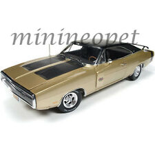AUTOWORLD AMM1077 1970 70 DODGE CHARGER R/T 50TH ANNIVERSARY 1/18 LIGHT GOLD