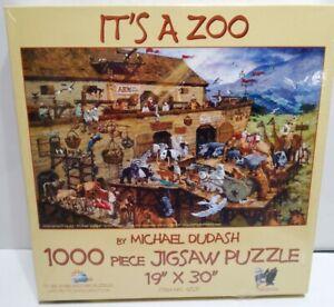 Its A Zoo Noahs Ark 1000 Piece Jigsaw Puzzle Sealed SunsOut 19X30 Michael Dudash