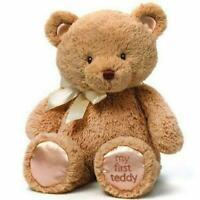 ~❤️~GUND MY FIRST TEDDY Bear Brown Plush Soft Toy 25cms BNWT~❤️~
