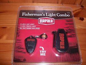Rapala Fisherman's Fishing Cap Flash Light Combo - NEW!