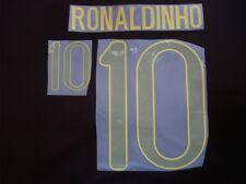 RARE! RONALDINHO #10 Brazil Away 2012-13 PU PRINT