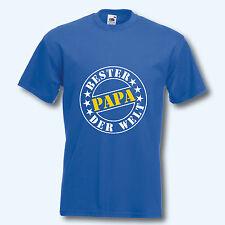 T-Shirt, Fun-Shirt, Bester Papa der Welt, royal, Malle, S-XXL, Textildruck