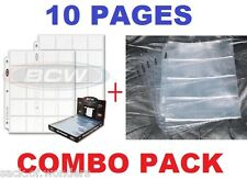 (10 ) 20-Pockets 2x2 Coins + 4 Pockets Currency Holders Inserts  Sleeves Pages